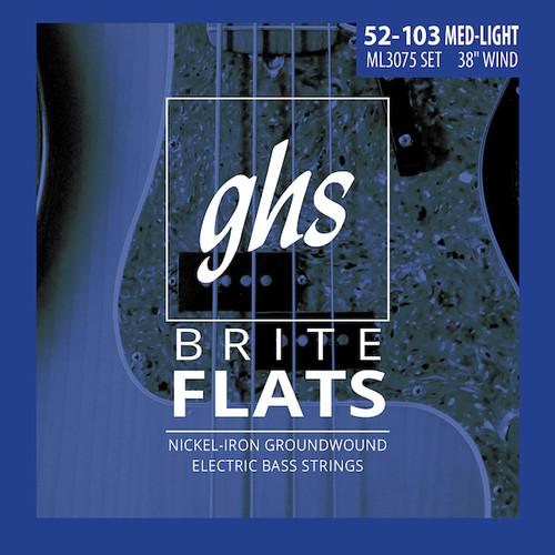 GHS Brite Flats Bass Guitar Strings;  52-103