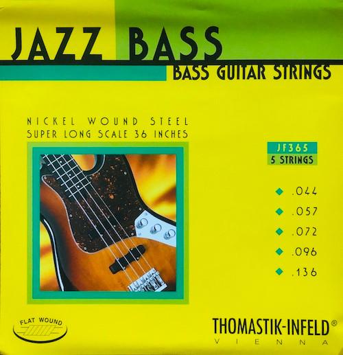 Thomastik Infeld Flatwound Nickel Jazz Super Long Bass Strings; 44-136