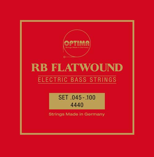 Optima Pure Nickel Flatwound Bass Guitar Strings - medium scale