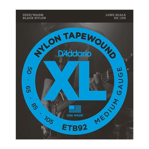 D'Addario XL Nylon Tapewound Bass Guitar Strings