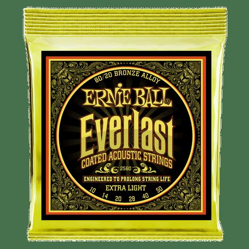 Ernie Ball Everlast Coated 80/20 Acoustic Guitar Strings; 10-50