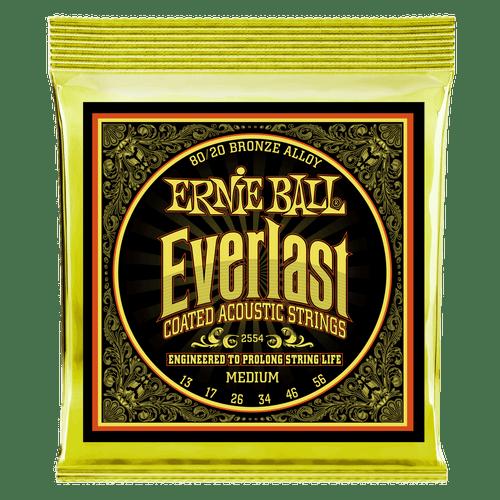 Ernie Ball Everlast Coated 80/20 Acoustic Guitar Strings; 13-56