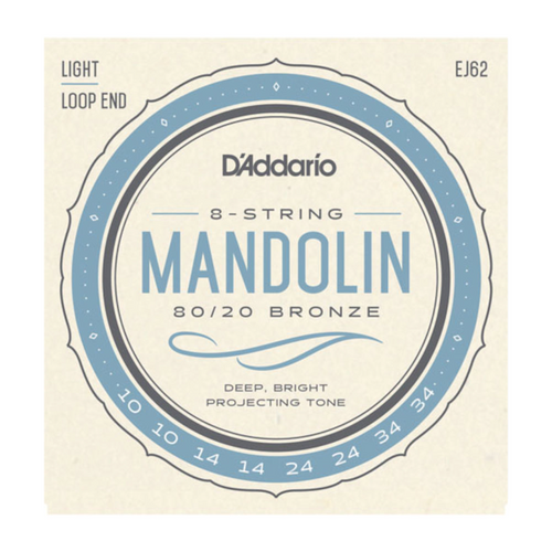 D'Addario 80/20 Bronze Mandolin Strings; 10-34 light