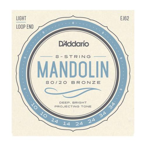 D'Addario 80/20 Bronze Mandolin Strings; 10-34 light