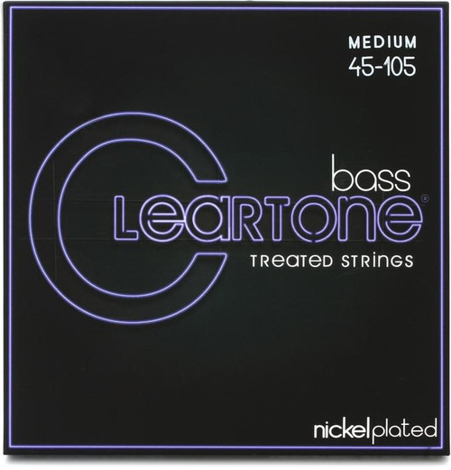Cleartone Nickel Plated Steel Bass Guitar Strings;  45-105