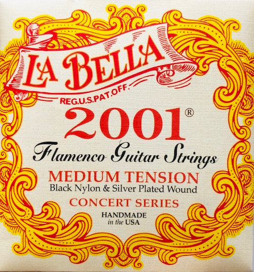 La Bella 2001 Flamenco Guitar Strings; medium tension
