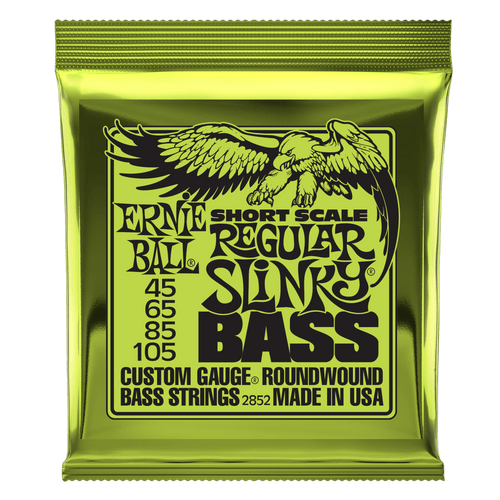 Ernie Ball Short Scale Slinky Bass Guitar Strings; 45-105 short scale