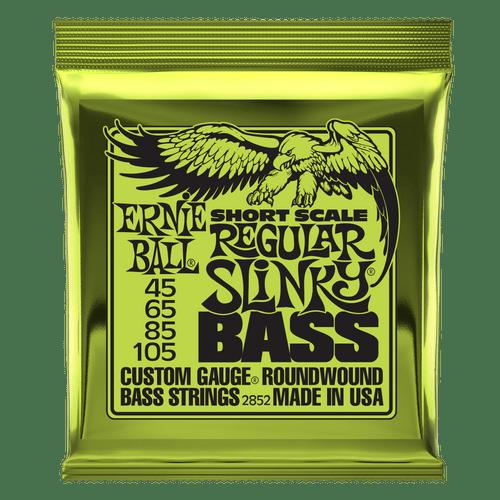 Ernie Ball Short Scale Slinky Bass Guitar Strings; 45-105 short scale