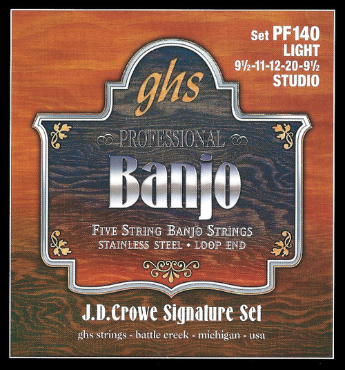 GHS J.D. Crowe Signature Studio Banjo Strings; 5-string light gauge