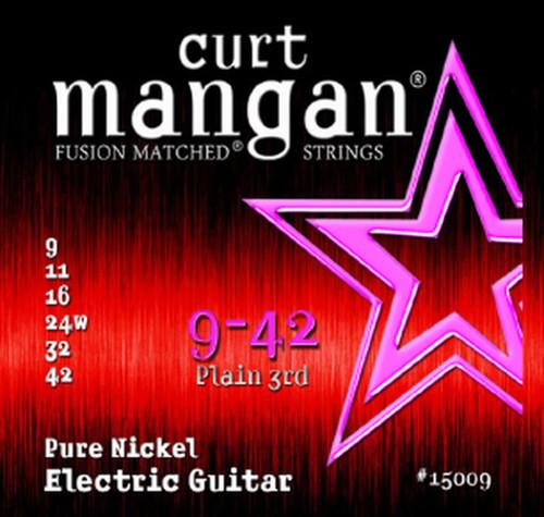 Curt Mangan Pure Nickel Electric Guitar Strings 9-42