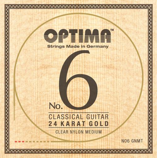 Optima No.6 24K Gold Classical Guitar Strings; medium tension