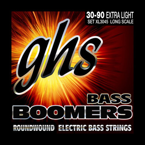 GHS Boomers Bass Guitar Strings; 30-90