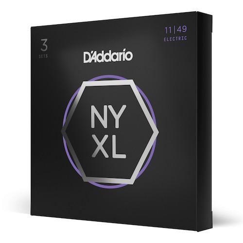 D'Addario NYXL Electric Guitar Strings 11-49; 3-PACK