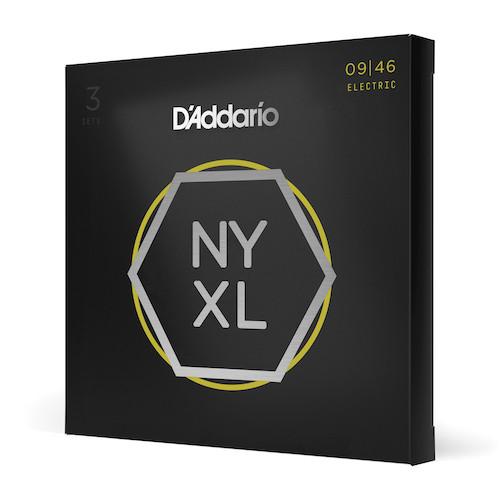 D'Addario NYXL Electric Guitar Strings 9-46; 3-PACK