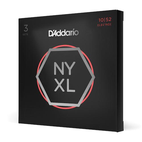 D'Addario NYXL Electric Guitar Strings 10-52; 3-PACK