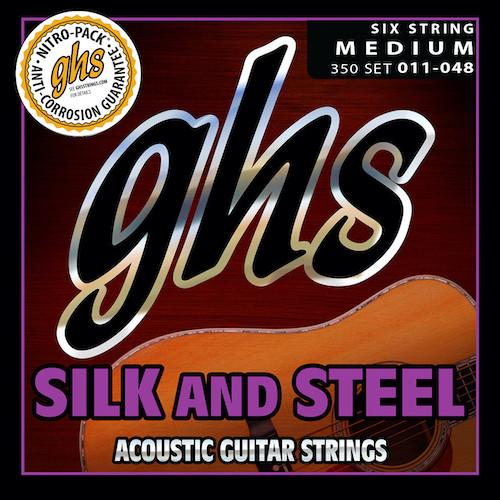 GHS Silk & Steel Acoustic Guitar Strings; 11-48