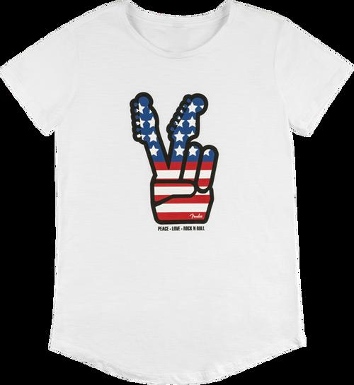 Fender Peace Sign T-shirt; women's