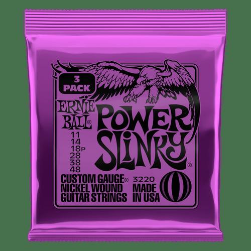 Ernie Ball Power Slinky Electric Guitar Strings 11-48; 3-Pack