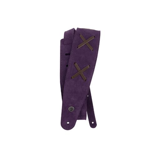 D'Addario Vintage Purple Suede Leather Guitar Strap JH