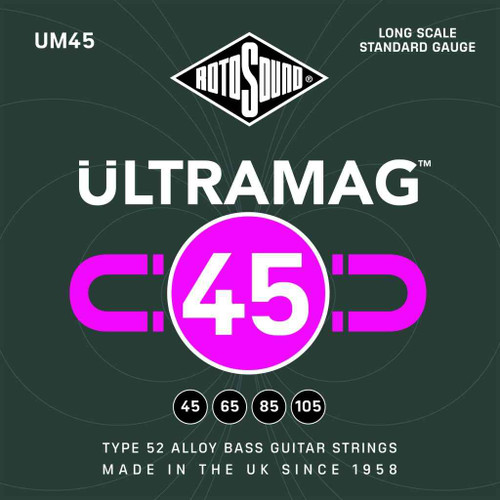 Rotosound Ultramag Bass Guitar Strings; gauges 45-105