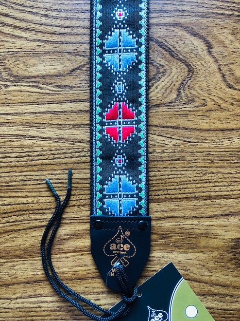 D'Andrea Ace Vintage Re-issue Guitar Strap 12 - Crossroads design
