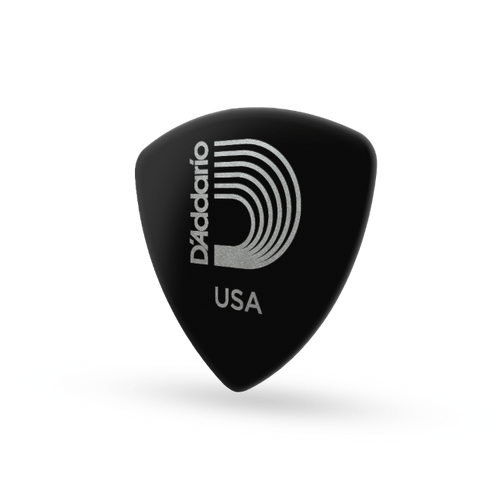 D'Addario Classic Celluloid Wide Guitar Picks 10-Pack; black medium .70mm