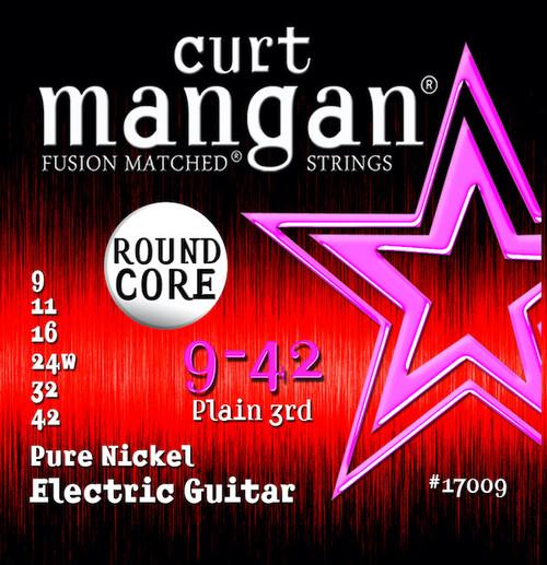 Curt Mangan Pure Nickel Round Core Electric Guitar Strings 9-42