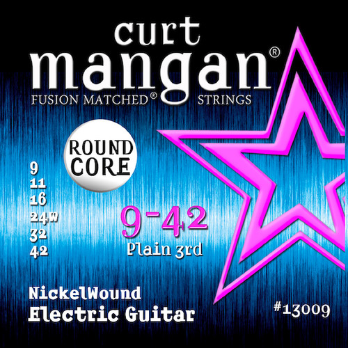 Curt Mangan Round Core Nickel Wound Electric Guitar Strings 9-42