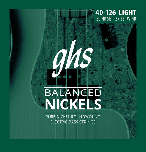GHS Balanced Nickels Bass Guitar Strings; 5-String gauges 40-126