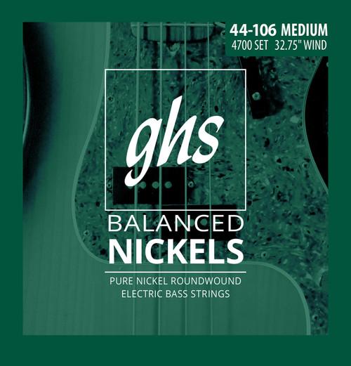 GHS Balanced Nickels Bass Guitar Strings; short scale 44-106