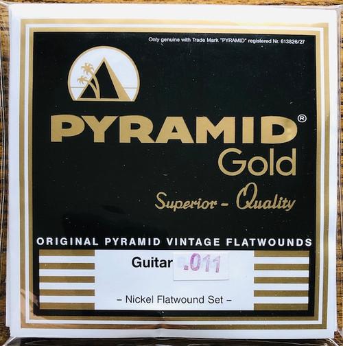 Pyramid Gold Chrome Nickel Flatwound Guitar Strings; 7-String set 11-60
