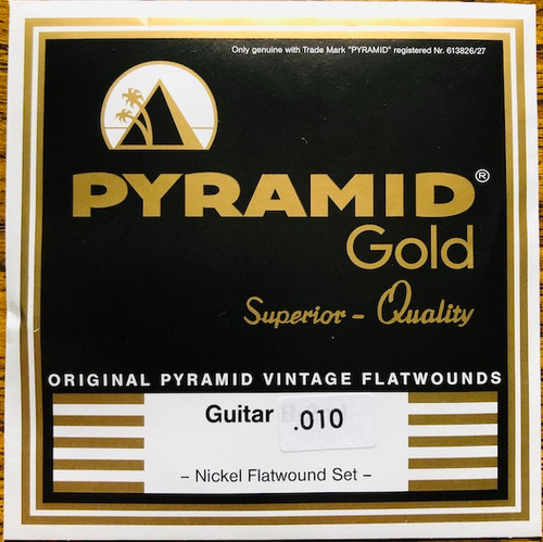 Pyramid Gold Chrome Nickel Flatwound Guitar Strings; 7-String set 10-56