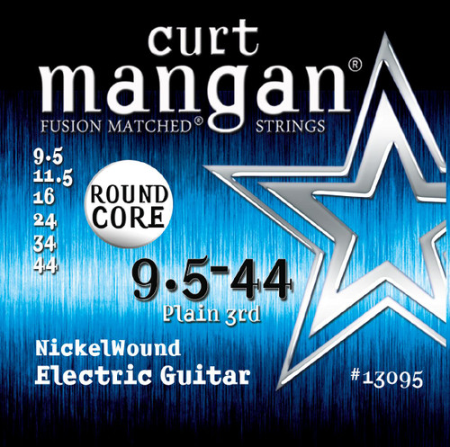 Curt Mangan Round Core Nickel Wound Electric Guitar Strings 9.5-44