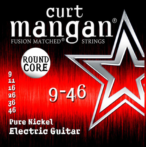 Curt Mangan Pure Nickel Round Core Electric Guitar Strings 9-46