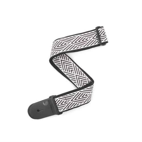 D'Addario Woven Guitar Strap, African Geometric cream