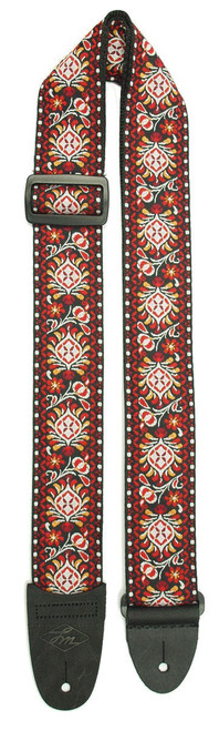LM Retro Red Guitar Strap