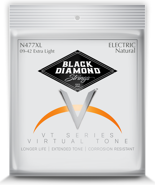 Black Diamond Nickel Wound Electric Strings; 9-42