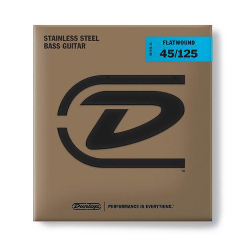 Dunlop Flatwound Stainless Steel Bass Guitar Strings; 5-String gauges 45-125