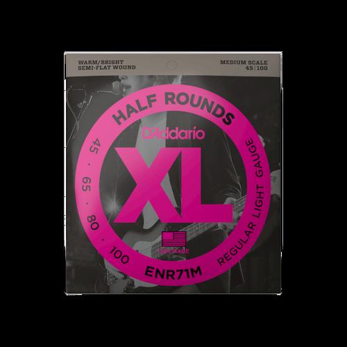 D'Addario XL Half Rounds Bass Guitar Strings; 45-100 Medium Scale