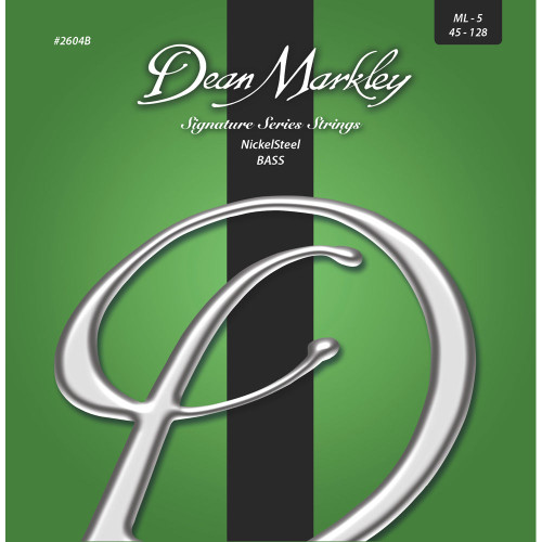 Dean Markley NickelSteel Bass Guitar Stings; 45-128