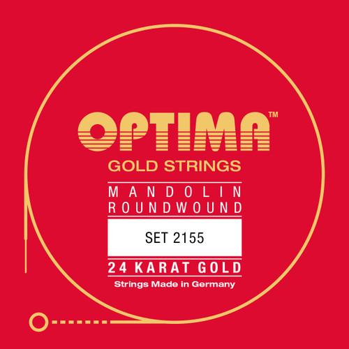 Optima 24K Gold Coated Mandolin Strings - Singles