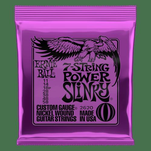 Ernie Ball Power Slinky Electric Guitar Strings 11-58