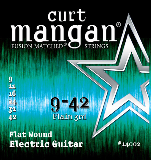 Curt Mangan Stainless Flatwound Electric Guitar Strings 9-42