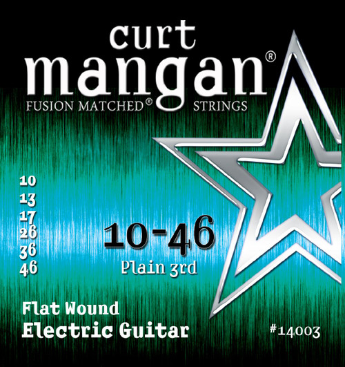 Curt Mangan Stainless Flatwound Electric Guitar Strings 10-46