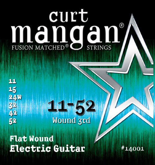 Curt Mangan Stainless Flatwound Electric Guitar Strings 11-52