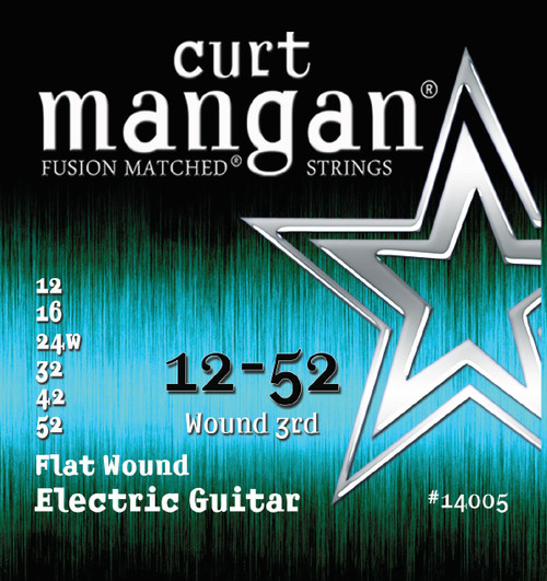 Curt Mangan Stainless Flatwound Electric Guitar Strings 12-52