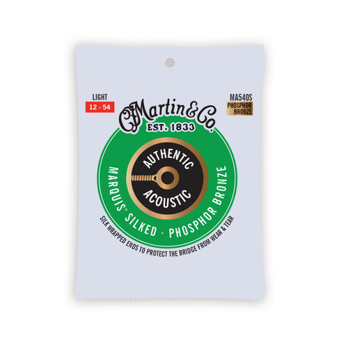 Martin Authentic Acoustic Marquis Silked Guitar Strings 12-54