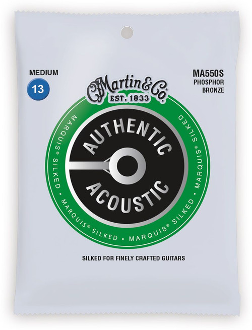 Martin Authentic Acoustic Marquis Silked Guitar Strings 13-56