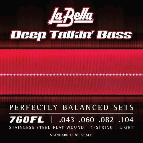 La Bella Deep Talkin' Bass Stainless Steel Flatwound Strings; 43-104