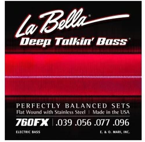 La Bella Deep Talkin' Bass Stainless Steel Flatwound Strings; 39-96